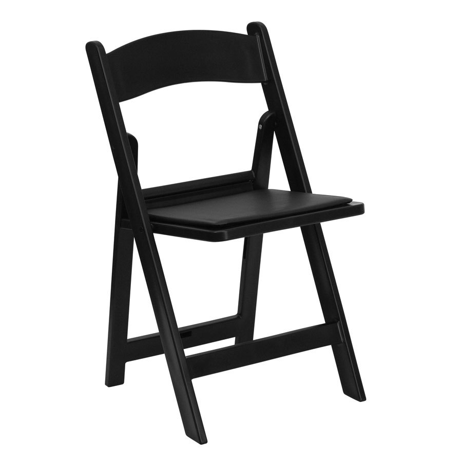 Black chair and white chair - Black Resin Chair Image